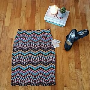 LuLaRoe Multicolor Pencil Skirt
